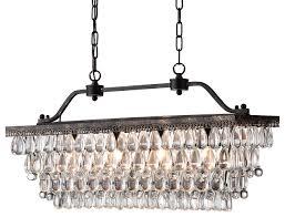 amazing of long rectangular crystal chandelier antique bronze rectangular crystal chandelier dining room ceiling