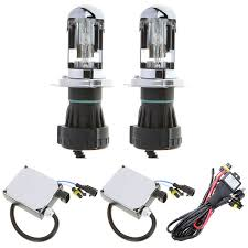 h4 55w 6000k h l beam xenon hid conversion kit telescopic light headlamps super vision