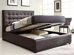 Athens Queen Bedroom set w storage bed Brown