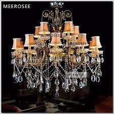 big crystal chandelier light fixture antique brass large suspension res chandelier lamp with lampshade md8504 l15 chandelier for deer antler