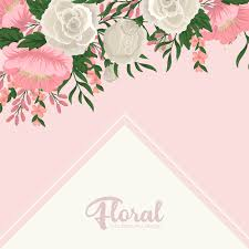 Greeting Card Samples Greeting Card Template With Floral Background Vector Free