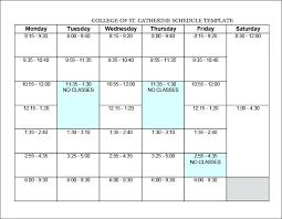 Student Schedule Excel Excel College Schedule Template Student Schedule Template Microsoft