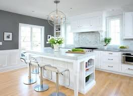 grey white kitchen inspiration for a large timeless galley light wood floor kitchen remodel in with grey white kitchen