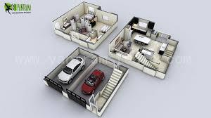 D Apartment Floor Plan Ideas By Yantram D Floor Design Yantram - Small apartment floor plans 3d