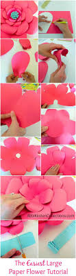 Large Paper Flower Pattern How To Make Large Paper Flowers Easy Diy Giant Paper Flower