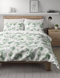 mix green palms cotton bedding set