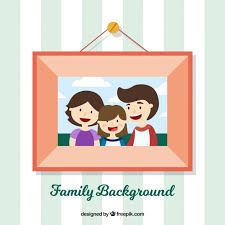 frame background with family photo free vector