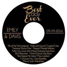 Wedding Cd Labels Personalized Best Day Ever Cd Or Dvd Labels 12 Pieces