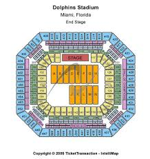 Miami Dolphins Hard Rock Stadium Seating Chart Landshark Stadium Tickets Landshark Stadium In Miami