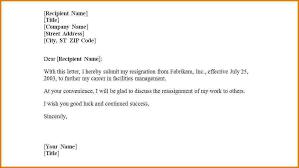 First Job Resignation Letter Templateg Employment Certification