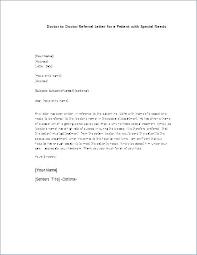Sample Referral Cover Letter Business Referral Letter Template Referral Cover Letter
