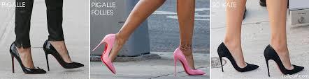 Christian Louboutin Heel Height Chart Christian Louboutin Pigalle Vs Pigalle Follies Vs So Kate