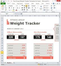 weightloss group free group weight tracker template for excel