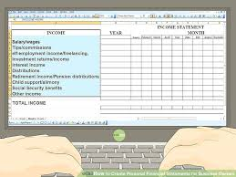 Simple Personal Financial Statement Report Statements Template Excel ...
