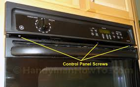 how to replace a built in oven fan ge wall oven fan replacement control panel screws