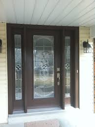 Pro Via Entry Door With Sidelights Tudor Brown Finish With - Exterior doors st louis