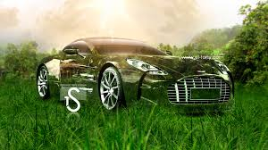 aston martin one77 crystal nature car