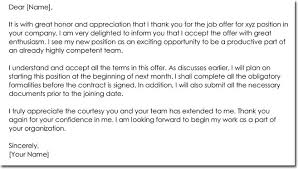 Job Offer Thank You Letter Job Offer Thank You Letter Templates Best Samples And Examples
