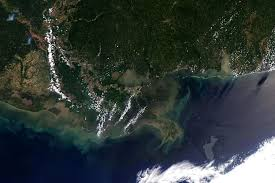 u s department of > photos > photo essays > essay view satellite image of the gulf of oil spill as of 4 2010