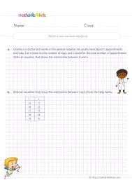 function table worksheets 4th grade