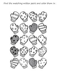 Small Picture Preschool Mitten Winter Coloring Pages Printable Winter Coloring
