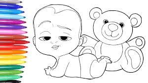 Small Picture THE BOSS BABY Boss Baby Coloring Page Learn Colors For Kids 2