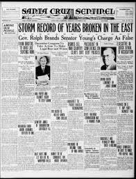 Santa Cruz Sentinel from Santa Cruz, California on November 17, 1932 · Page  1