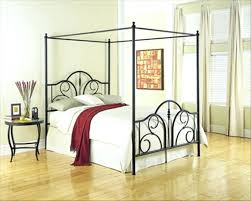 Canopy Queen Size Beds Wonderful Black Metal Canopy Bed With Metal ...