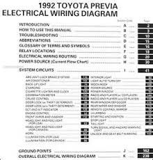 similiar toyota previa wiring diagram keywords 1992 toyota previa wiring diagram manual original