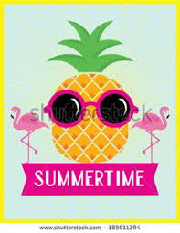 pineapple with sunglasses clipart. pineapple and flamingo summertime vector/illustration template - stock vector with sunglasses clipart p