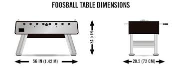 foosball table dimensions. Foosball Table Dimensions Front A