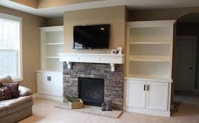built bookshelves plans around fireplace woodworker
