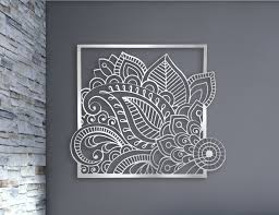 zoom on custom cut metal wall art with laser cut metal decorative wall art panel sculpture for home
