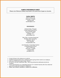 Resume Reference Page Format New References In Resume Examples