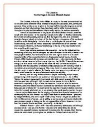 the crucible the marriage of john and elizabeth proctor gcse  page 1 zoom in