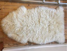 ikea ludde small rug cream fluffy fur