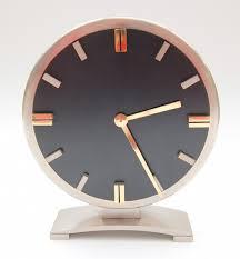 1950s machine age steel and brass mechanical clock