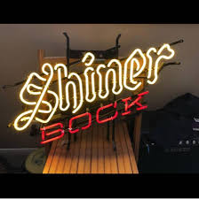 Shiner Neon Light Shiner Bock Beer Neon Sign Glass Tube Neon Light
