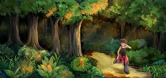 Image result for a boy in the forest