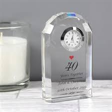 personalised ruby anniversary clock