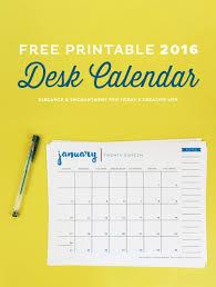Desk Calendar Printable Free Printable 2016 Desk Calendar Todays Creative Life