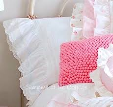 white lace french ruffle pillowcases