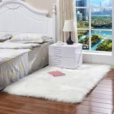 Weißrosagrau Lange Plüsch Ultra Weichen Flauschigen Teppiche