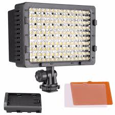 Cn 160 Led Video Light Battery Us 30 09 14 Off Neewer 160 Led Cn 160 Dimmable Ultra High Power Panel Digital Camera Camcorder Video Light Led Light For Digital Slr Cameras In