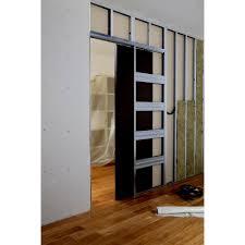 Elegant Syst Me Galandage En Kit Pour Porte Coulissante ARTENS 3 L 63 Cm Collection  Pose De