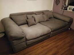 Big Sofa Megasofa Nelson Grau 232cm132cm