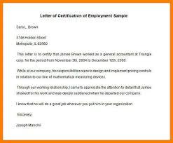12 Employment Certificate Sample Colonialneighbours Com