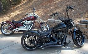 my ride a 2009 harley davidson rocker c and a 2014 breakout