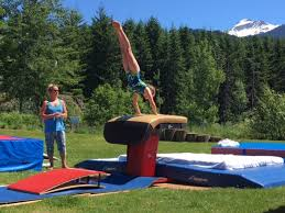 Vault gymnastics Clipart Gymnast Competes On The Outdoor Vault At The Whistler Gymnastics Centre Last Weekend The New York Times Whistler Gymnastics Host Hundreds At Summer Meet Whistler Question