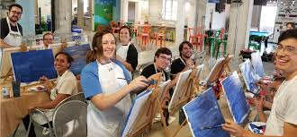 get ready to have a unique painting party with your friends it s time to wine and unwind with art by the glass studio we are a mobile painting studio that